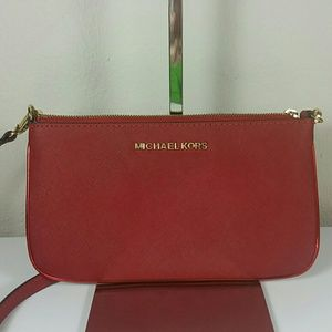 Saffiano leather red crossbody Michael Kors